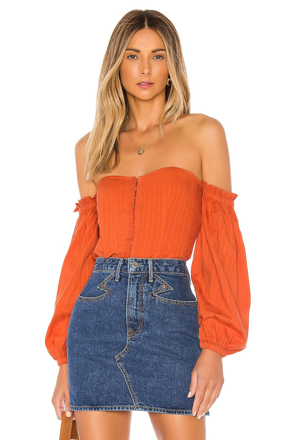Betsey Top in Rust