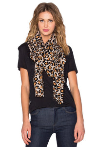 Painted Leopard Scarf - Kustom Label - 1