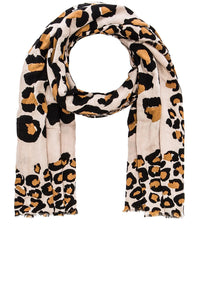 Painted Leopard Scarf - Kustom Label - 2