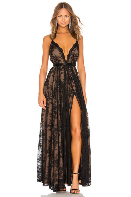 Paris Lace Gown in Black