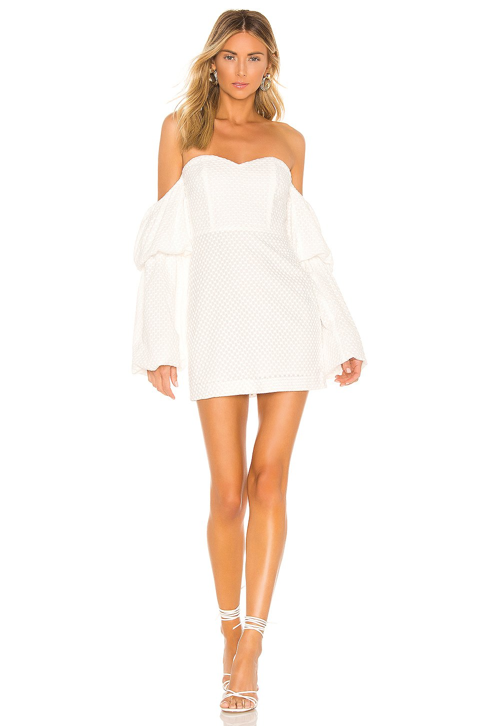 Crane Mini Dress in Star White