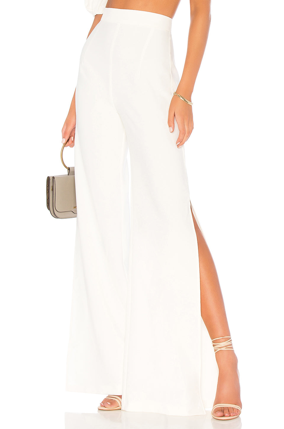 Belle High Waisted Pants in Ivory