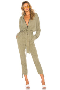 Zip Jumpsuit in Vetiver