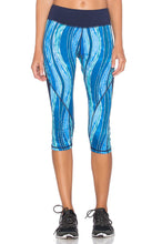 Load image into Gallery viewer, Ocean Blocked Capri Legging - Kustom Label - 1