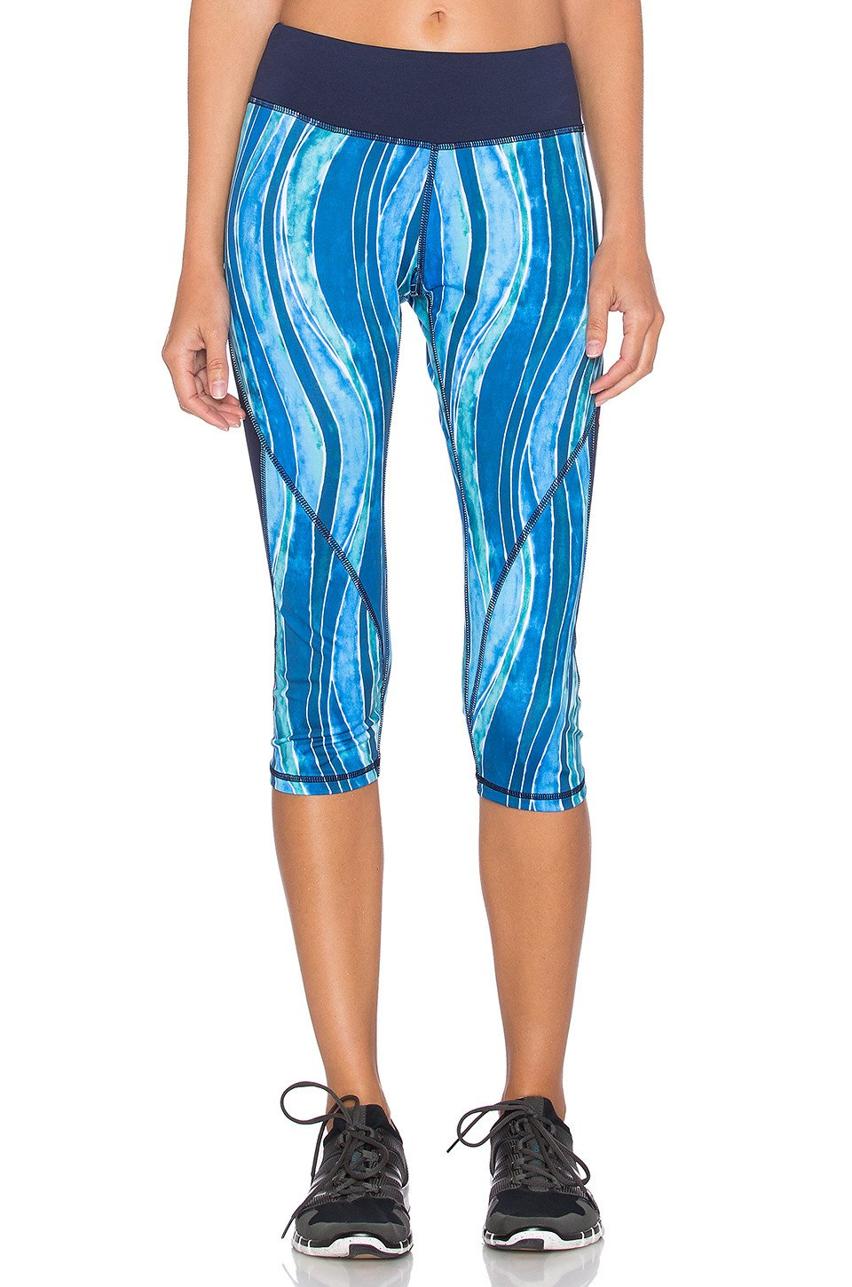 Ocean Blocked Capri Legging - Kustom Label - 1
