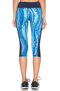 Ocean Blocked Capri Legging - Kustom Label - 4