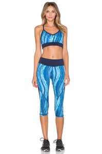 Ocean Blocked Capri Legging - Kustom Label - 3