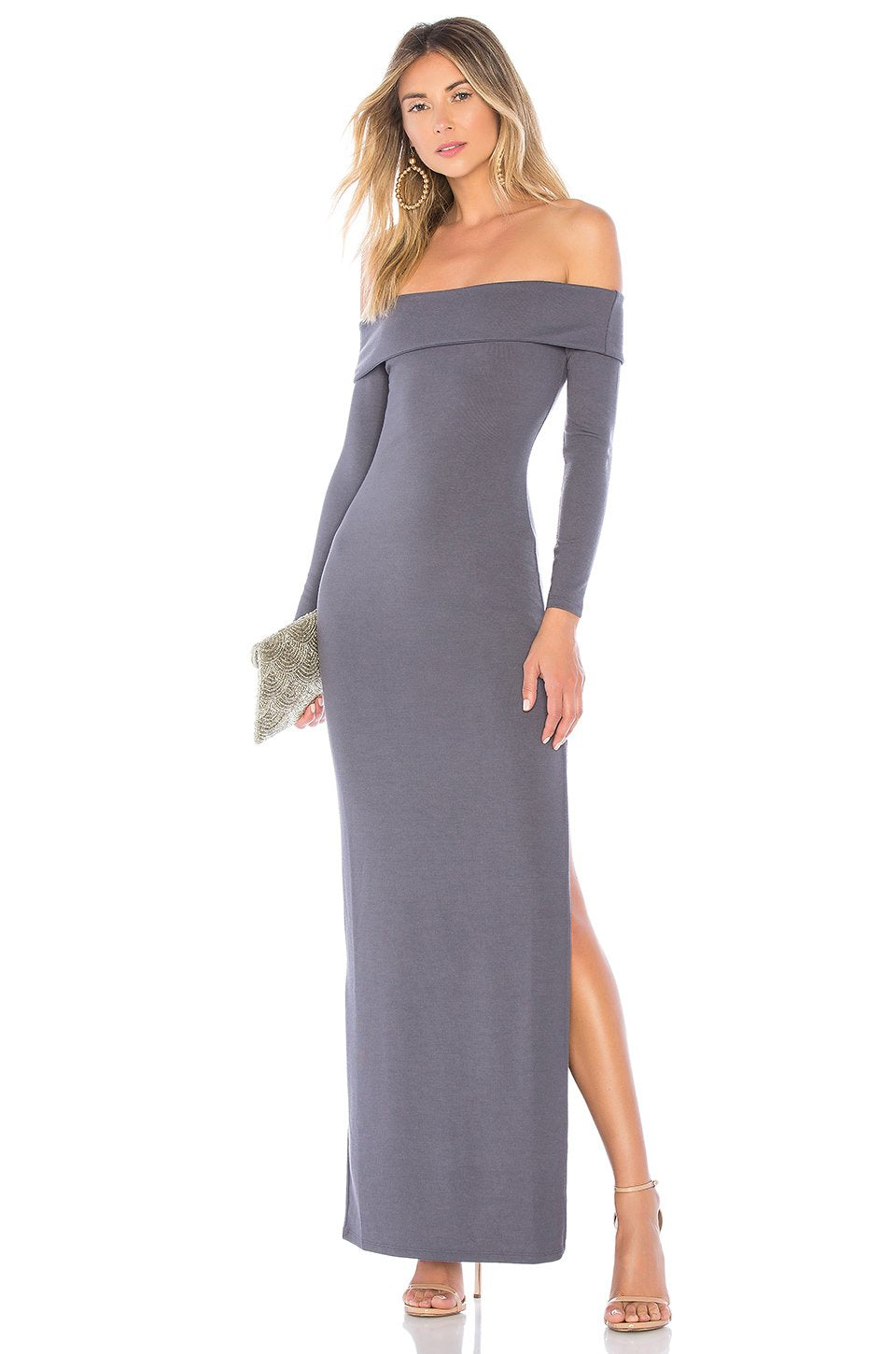 Royale Maxi Dress in Charcoal