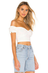 Courtney Cropped Top in White