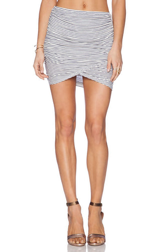 Rib Brooks Skirt In Prism Stripe