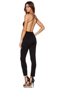 Plunge Neck Jumpsuit - Kustom Label - 1