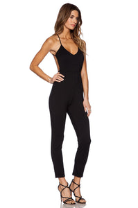 Plunge Neck Jumpsuit - Kustom Label - 2