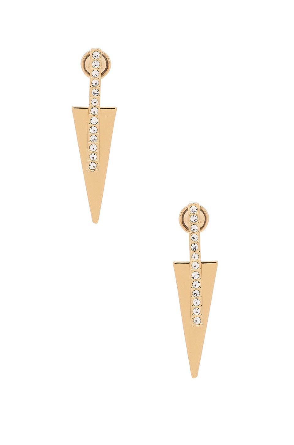 Pave Bar & Triangle Earrings - Kustom Label - 1