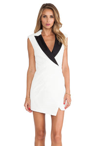 Sculpted Tuxedo Dress - Kustom Label - 1