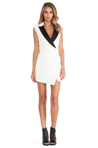 Sculpted Tuxedo Dress - Kustom Label - 3