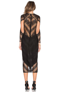 Arabesque Lace Up Midi Dress - Kustom Label - 3