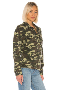 Adley Button Up Jacket in Camo