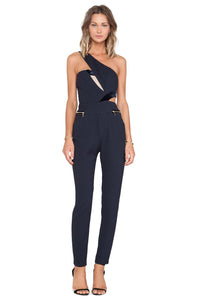 Legacy Asymmetric Navy Jumpsuit - Kustom Label - 1