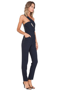 Legacy Asymmetric Navy Jumpsuit - Kustom Label - 2