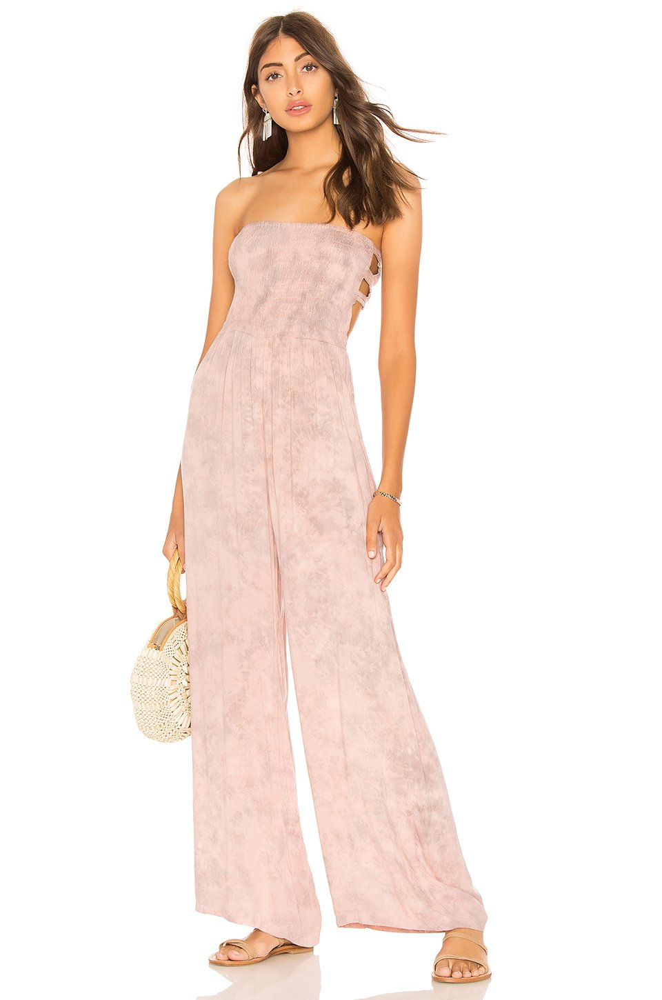 Bennett Jumpsuit in Rose Smoke Tie Dye