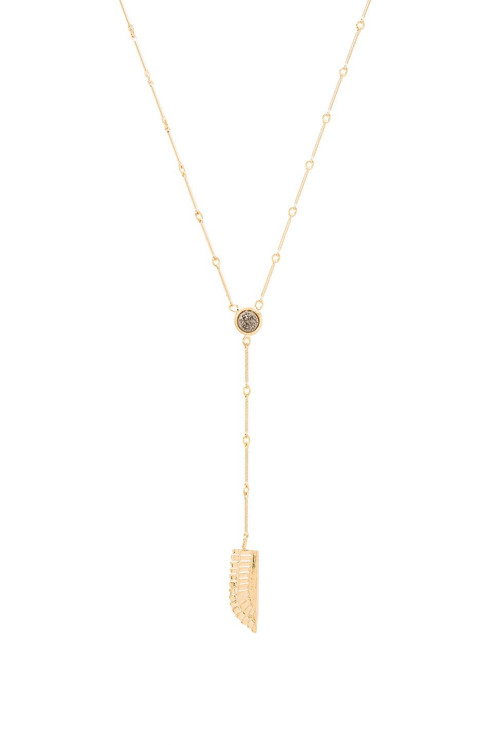 Druzy Lariat Necklace - Kustom Label - 1