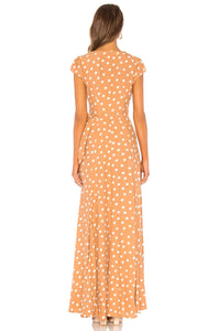 Sid Wrap Maxi Dress in Latte
