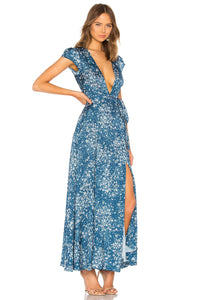 Sid Wrap Dress in Alison Floral