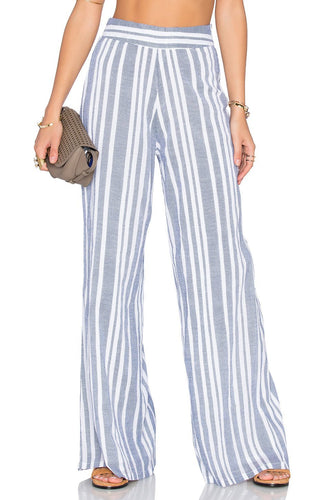 Marley Pant in Blue & White