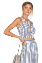 Load image into Gallery viewer, Marley Crop Top in Blue & White
