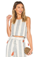Load image into Gallery viewer, Marley Crop Top in Chambray Stripe