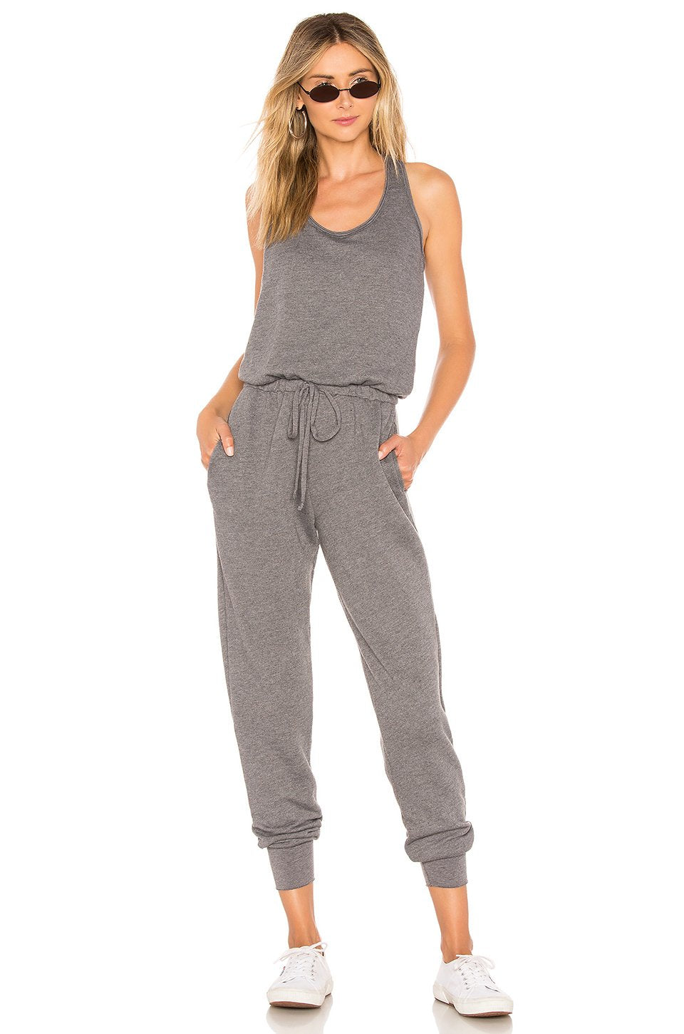 Eberhart Jumpsuit in Solid Charcoal