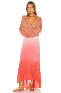 Lyla Maxi Dress in Hot Pink Ombre