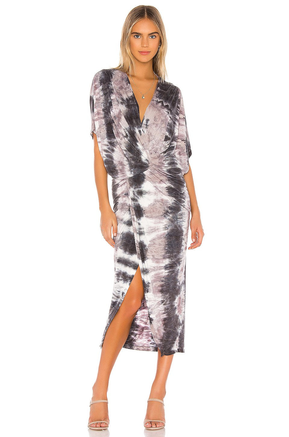 Luana Midi Dress in Amethyst Ikat Wash