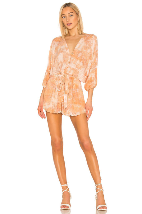 Kyra Romper in Honey Micro Wash