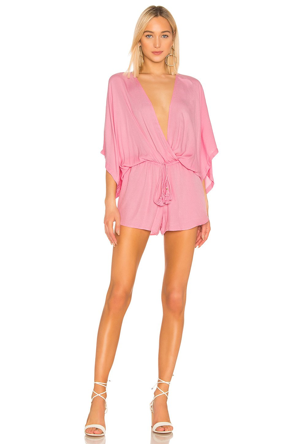 Ashley Romper in Hot Pink