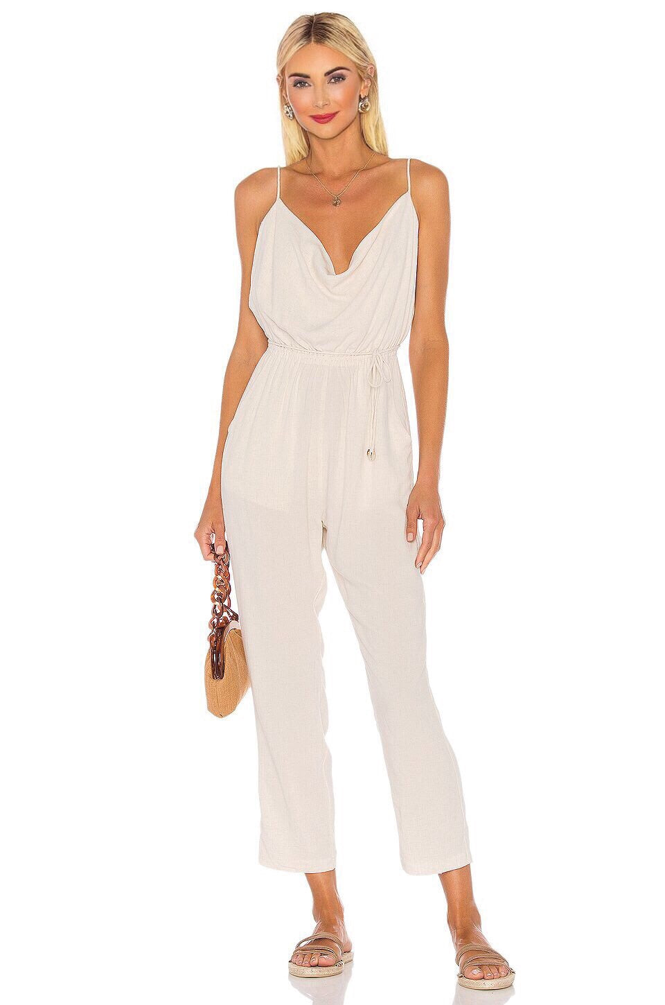 Poe Jumpsuit in Natural