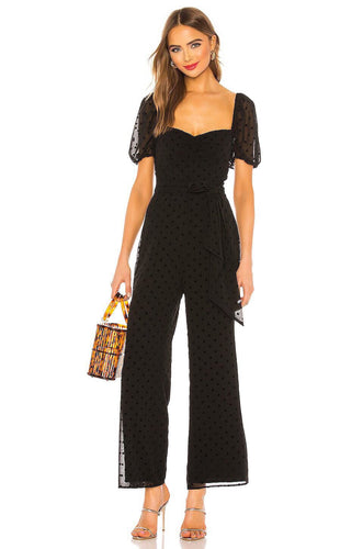 Eloise Jumpsuit in Black Dot