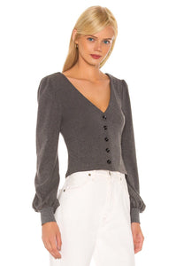 Aiden Cardigan in Charcoal Grey