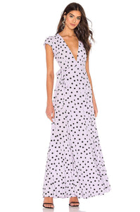 Sid Wrap Maxi Dress in Lilac