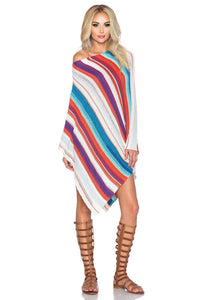 Clara Sweater Poncho in Cayman Bay