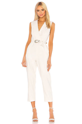Dahlia Jumpsuit in Ivory