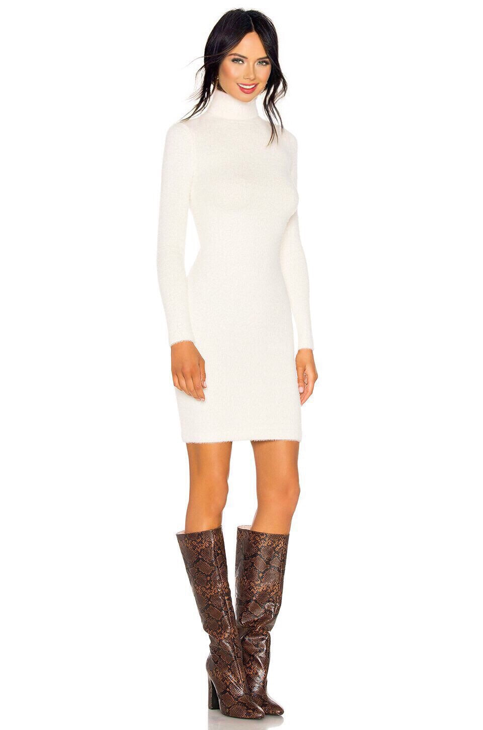 Surrey Sweater Dress in Ivory