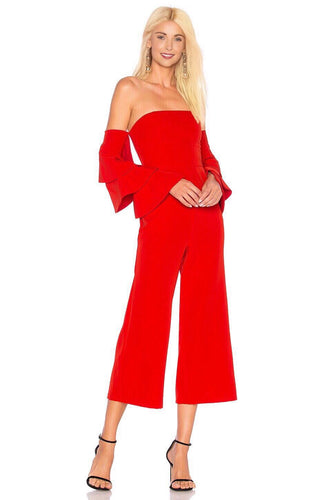 Aaro Jumpsuit in Red