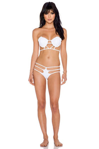 The Bondi Bikini Bottom in White