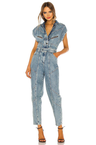Alex Jumpsuit in Denim