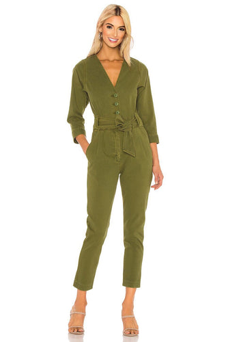 Sashan Jumpsuit in Chive