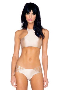 Sola Bikini Top in Minx Brown