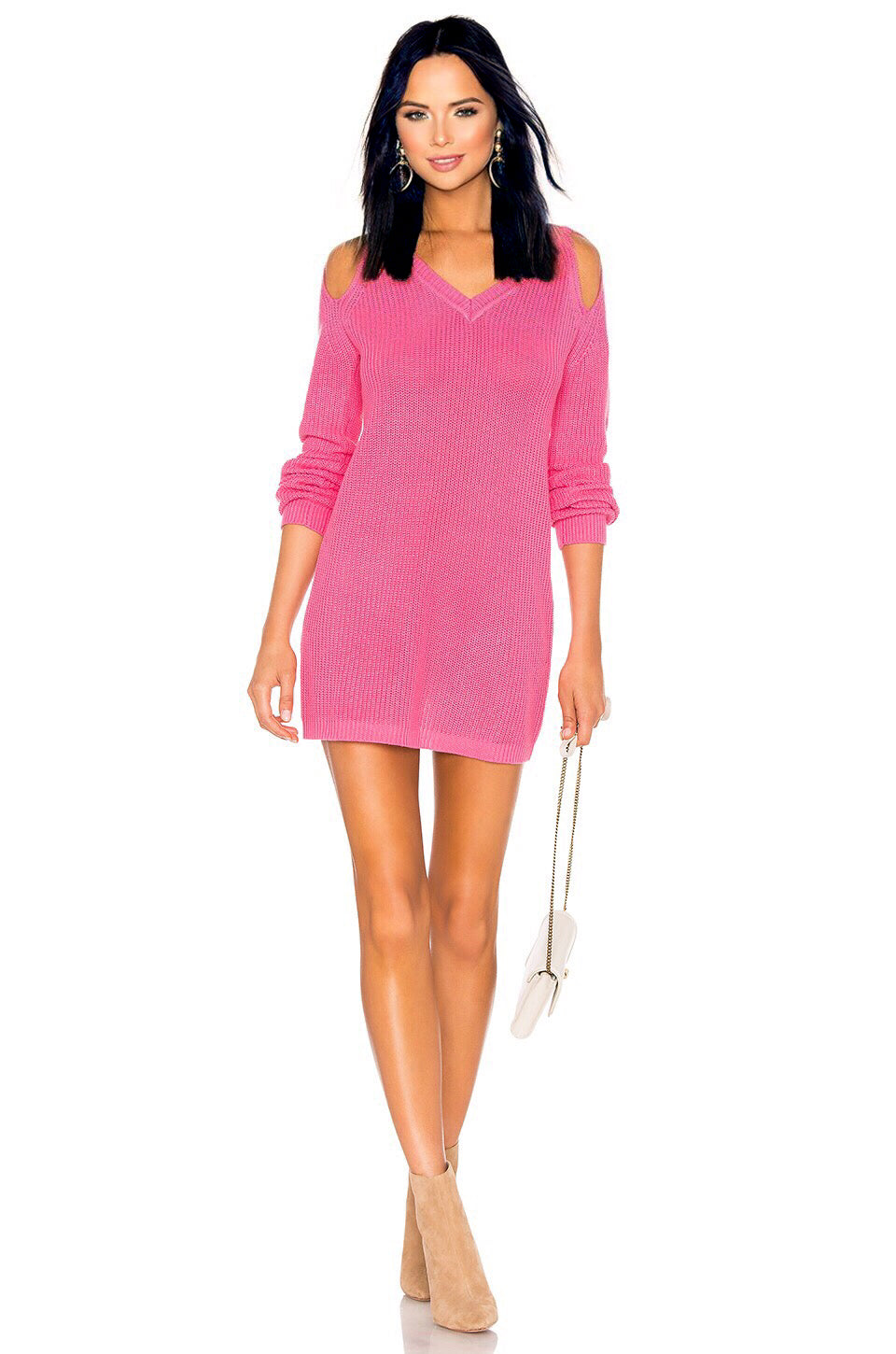 She Can Cut Out Sweater in Coral