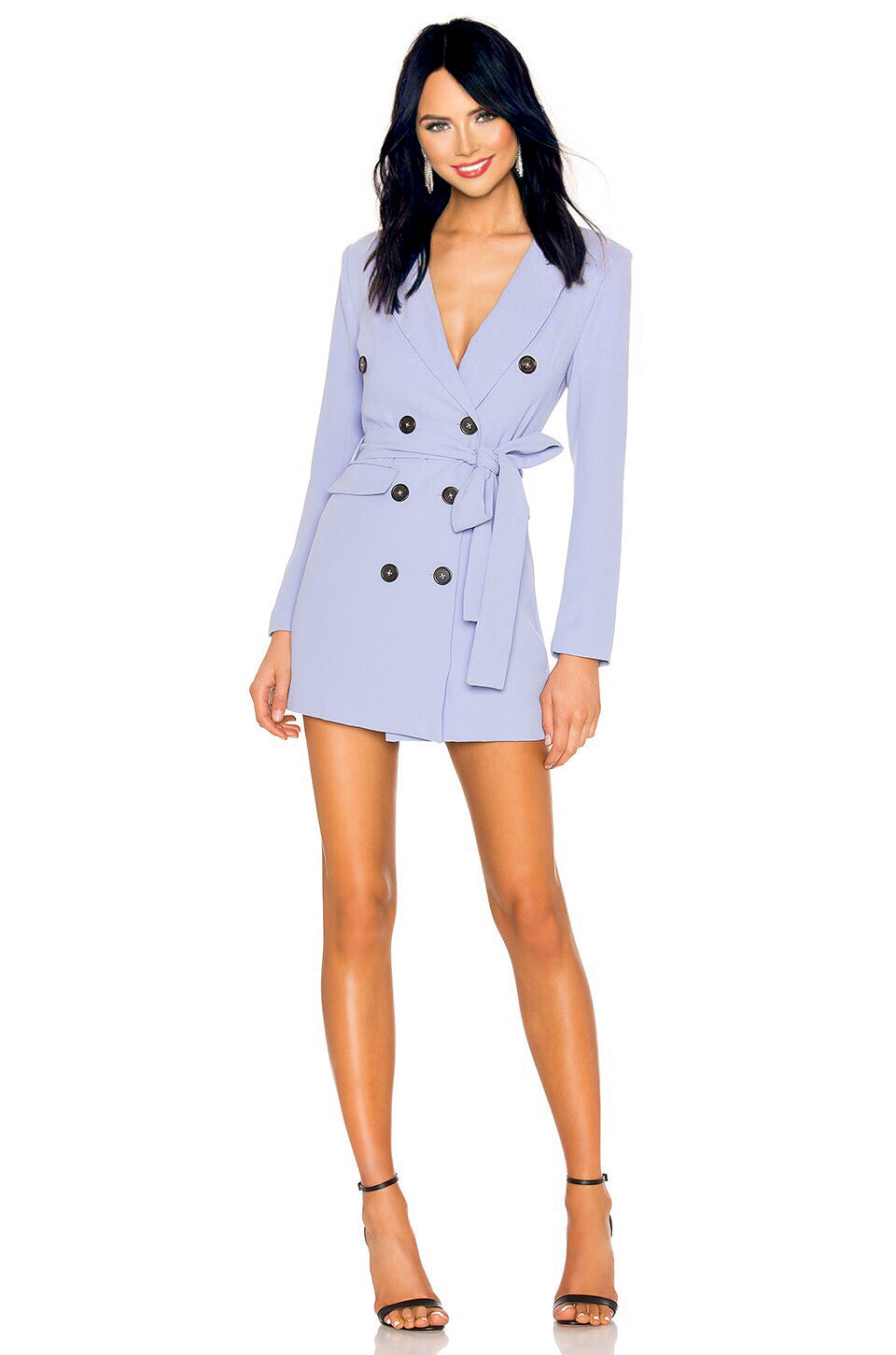 Diana Blazer Mini Dress in Periwinkle