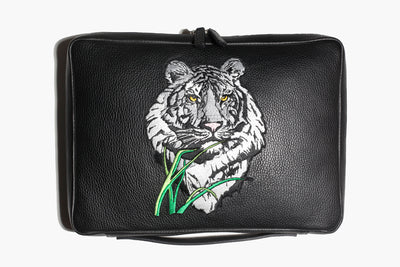 Città Alta - Black Leather/Tiger - Computer Sleeve